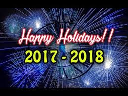 happy holidays and happy new year 2017 2018