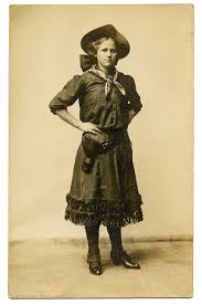 old photo vintage cowgirl the graphics fairy