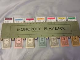 1936 monopoly properties and money holder