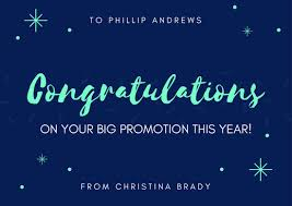 congratulations promotion card blue and neon green congratulations card templates by canva