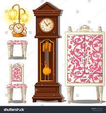 grandfather clock grandfather clock vintage furniture vector stock vector 371056034