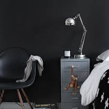 Black Painted Walls Bedroom Black And White Bedroom Contemporary Bedroom Stylizimo Blog