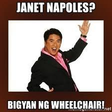 Janet Napoles Memes - janet napoles bigyan ng wheelchair bigyan ng jacket meme