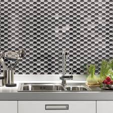 Kitchen Backsplash Peel And Stick Vinyl Mosaic Wall Tile Instant Mosaic Peel And Stick Pack Of 6 For