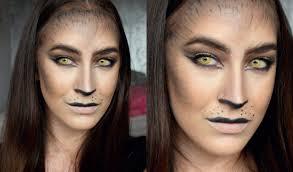wolf cat halloween makeup tutorial youtube