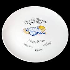 painted platters personalized personalized gifts judaica baby plate