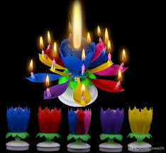 1st birthday candle musical birthday candle magic lotus flower candles blossom
