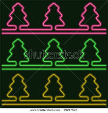christmas light neon tree stock images royalty free images