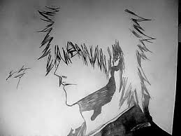 how to draw ichigo kurosaki long hair youtube