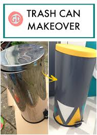 trash can makeover craft contact paper and kitchens