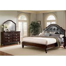 Manhattan Bedroom Furniture Manhattan 5 King Upholstered Bedroom Set Cherry American