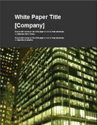 white paper report template white paper templates white paper template