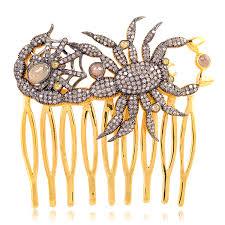 designer hair accessories pave diamond 925 sterling silver designer hair accessories