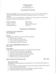 Assembler Resume Sample by Professional Order Builder Resume Template