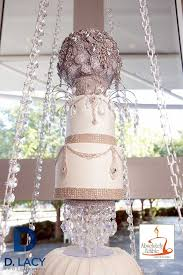 From A Chandelier Mom Baked Her Daughter A Chandelier Wedding Cake That Hangs From