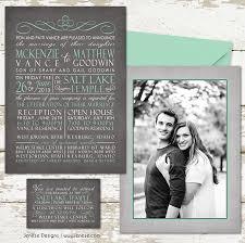 Wedding Invitations Utah Announcement Jeneze Designs