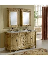 amazing deal on heritage roman tan birchwood vanity size double