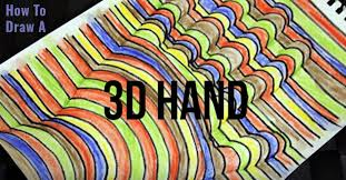 art projects super cool 3 d hand art