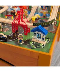 kidkraft 100 piece honey metropolis train table set zulily