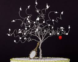 white tree topper etsy