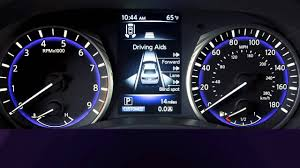 2014 infiniti q50 hev vehicle information display youtube