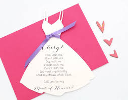 will you be my bridesmaid poems will you be my bridesmaid dress card by baby yorke designs