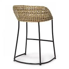 dining room unusual wicker vero counter bar stools rattan seat