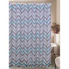 At Home Curtains Casey Teal And Gray Chevron Shower Curtain At Home At Home