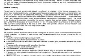 Rn Job Description Resume by Nicu Rn Resume Sample Reentrycorps