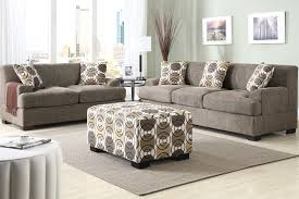 ottoman and matching pillows poundex sofa love seat 5 pillows slate faux linen ottoman sold