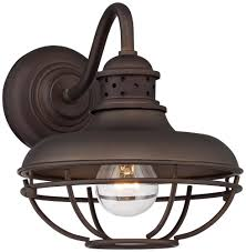 barn style post lights franklin park metal cage 9 high bronze outdoor wall light wall