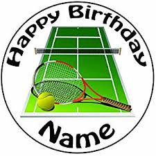 tennis cake toppers personalised tennis court and racket cake topper a pre cut