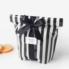 favor bags for wedding 50pcs black striped bag snacks plastic food bags as wedding favor