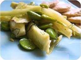 cuisiner les f钁es fraiches fenouil braisé aux fèves tours et tartines