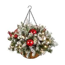 christmas hanging baskets with lights best pre lit christmas hanging baskets with led lights indoor or