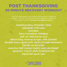 post thanksgiving 30 minute recovery workout workouts