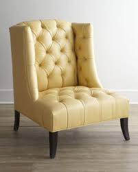 butter yellow leather sofa hickory tannery windmere leather chair i horchow elegant yellow with