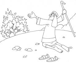 moses and burning bush coloring page coloring page
