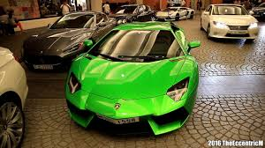 Lamborghini Aventador Green And Black - lamborghini aventador lp700 4 with candy apple green wrap in dubai