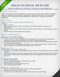 basic resume exles for highschool students high resumes carbon materialwitness co