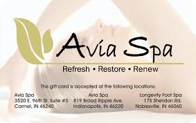 spa gift cards avia spa gift card