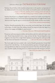 outrageous fortune growing up at leeds castle anthony russell