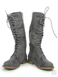 womens boots india boots portia distressed knee length boots buy grey
