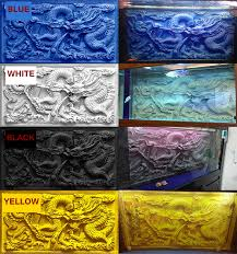 100 50cm aquarium fish tank 3d emboss background print chinese