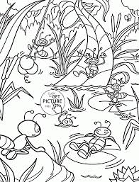 ants are resting coloring page for kids summer coloring pages