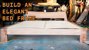 How To Make A Queen Size Platform Bed With Drawers by Building A Beautiful Queen Size Bed Frame Youtube
