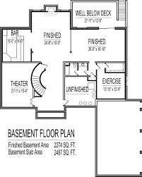 4 Bedroom Duplex Floor Plans 4500 Square Foot House Floor Plans 5 Bedroom 2 Story Double Stairs