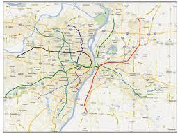 stl metro map st louis transit subway map and