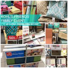 kohl u0027s friends u0026 family event save on curtains outdoor