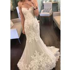 2017 strapless sweetheart lace mermaid elegant simple charming